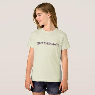 Brattleboro, T-shirt organique de logo de VT 1886