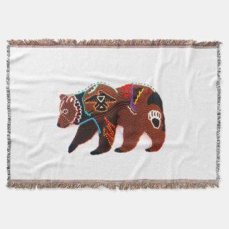 Bravez l'ours couvre pied de lit