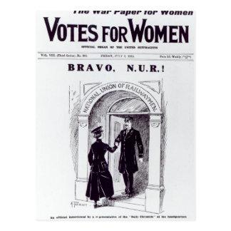 Bravo, N.U.R ! , couverture des 'votes pour Carte Postale