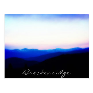 Breckenridge carte postale de coucher du soleil de