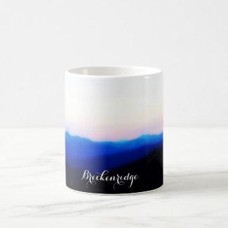 Breckenridge tasse de café de coucher du soleil de