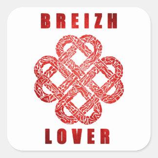 Breizh lover bretagne sticker carré