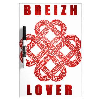 Breizh lover bretagne tableau blanc effaçable à sec