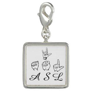 Breloque Amour ASL de la langue des signes américaine I