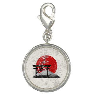 Breloque Avec Photo Drapeau et symboles du Japon ID153