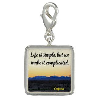 Breloque Avec Photo La vie est simple