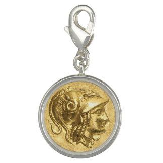Breloque Avec Photo Pièce de monnaie antique d'Athéna