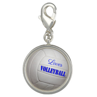 Breloque Avec Photo Volleyball d'amours