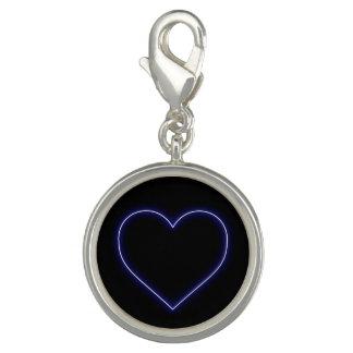 Breloque Coeur bleu au néon de Valentines