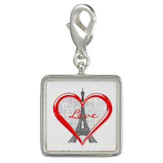 Breloque Coeur rouge de Paris   d'amour