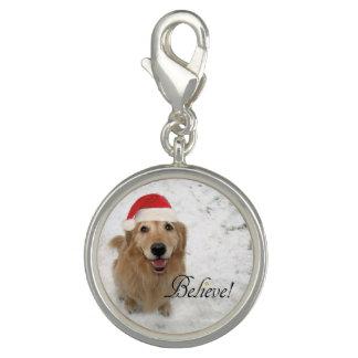 Breloque Le chien de golden retriever croient Noël