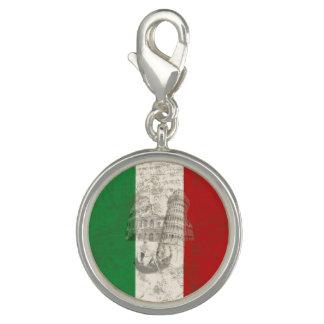 Breloques Avec Photo Drapeau et symboles de l'Italie ID157