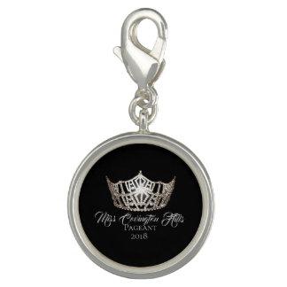 Breloques Avec Photo Nom de Charme-Coutume de PS de couronne de Mlle