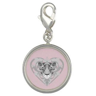 Breloques Charme de pendentif de lionne d'amour