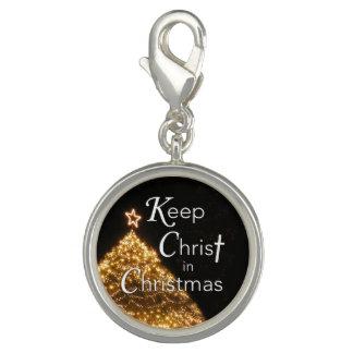 Breloques Maintenez le Christ dans l'arbre du charme W de