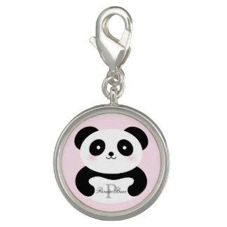 Breloques Monogramme Girly mignon d'ours panda de bébé
