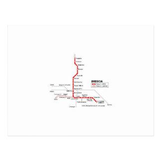 Brescia métro carte postale