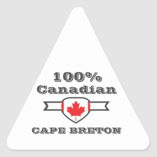 Breton 100% de cap sticker triangulaire