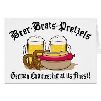 Bretzels de gosses de bière allemands carte de vœux