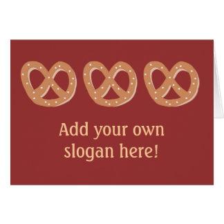 Bretzels de pain avec le slogan/salutation faits cartes
