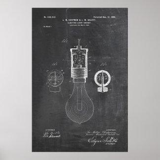 Brevet d'ampoule de tableau