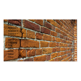 Brickwall Carte De Visite Standard