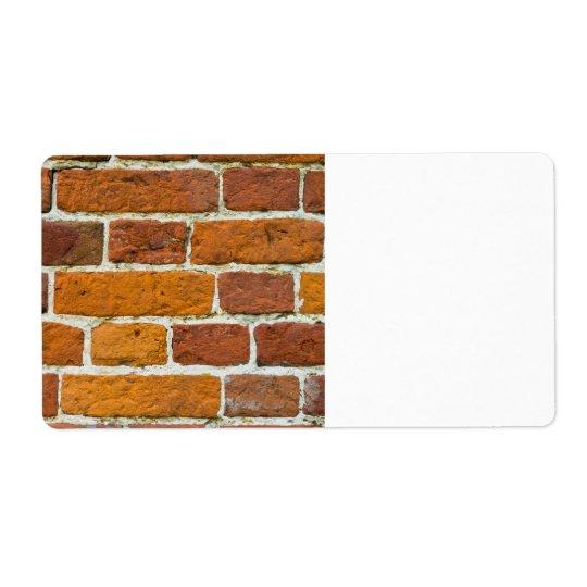 Brickwall Étiquette D'expédition