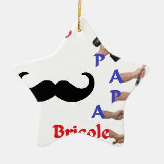 BRICOLE PAPA.png Ornement Étoile En Céramique