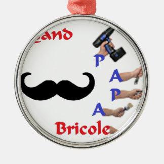 BRICOLE PAPA.png Ornement Rond Argenté