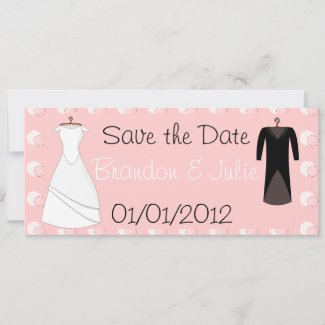 Bride and Groom clothes invitation