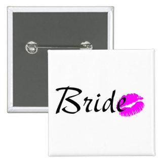 Bride Kiss Pinback Buttons