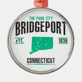 Bridgeport Ornement Rond Argenté