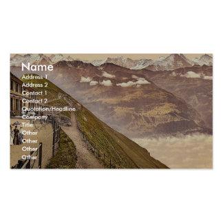 Brienzer Rothorn, terrasse, Bernese Oberland, Swit Modèle De Carte De Visite