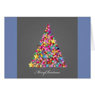 Brillamment carte de Noël d'arbre de Noël de Lit