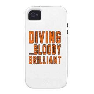 Brillant sanglant de plongée étui iPhone 4