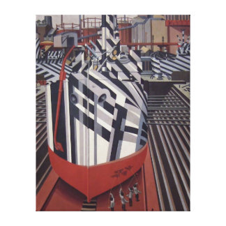 Briller-bateaux dans la copie de toile enveloppée