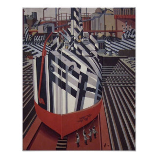 """Briller-bateaux en affiche 13"""" de cale sèche x16 """" poster"""