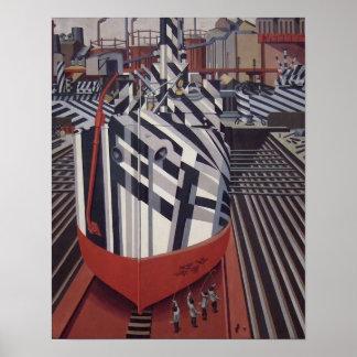 """Briller-bateaux en affiche 13"""" de cale sèche x16 """" posters"""