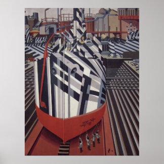 """Briller-bateaux en affiche 24"""" de cale sèche x31 """" posters"""