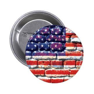 brique américaine badge avec épingle