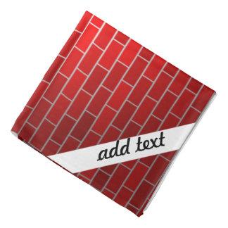 Brique rouge avec la dérive de neige - dessus de foulards