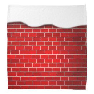 Brique rouge avec la dérive de neige - dessus de bandanas