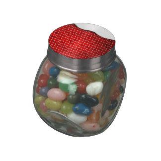 Brique rouge avec la dérive de neige - dessus de pots de bonbons jelly belly