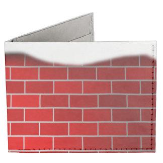 Brique rouge avec la dérive de neige - dessus de portefeuille 2 volets tyvek®