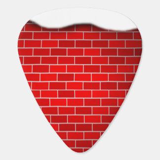 Brique rouge avec la dérive de neige - dessus de onglet de guitare