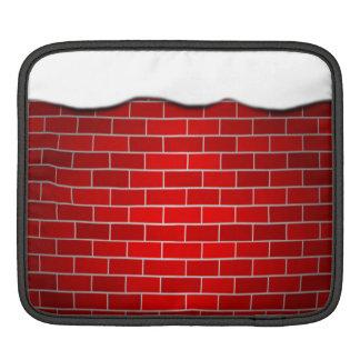 Brique rouge avec la dérive de neige - dessus de housses iPad
