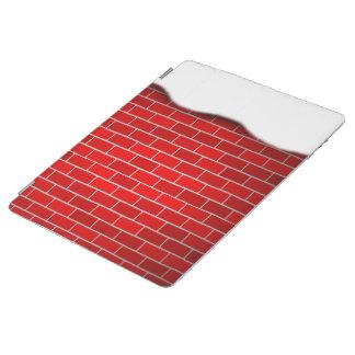 Brique rouge avec la dérive de neige - dessus de protection iPad