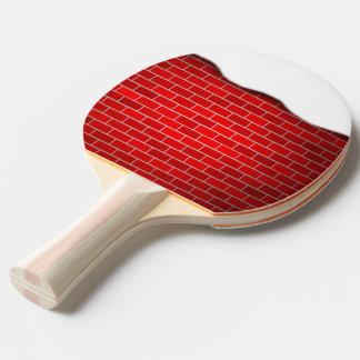 Brique rouge avec la dérive de neige - dessus de raquette de ping pong