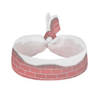 Brique rouge avec la dérive de neige - dessus de élastique pour cheveux