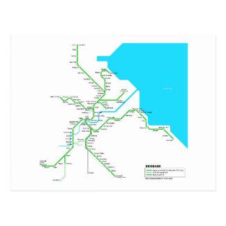 Brisbane métro carte postale